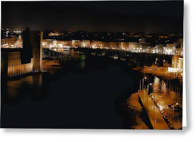 The Old Port Marseille 2 Greeting Card by Jean Francois Gil