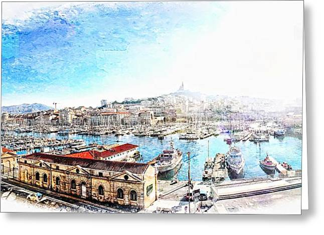 The Old Port Of Marseille  2 Greeting Card