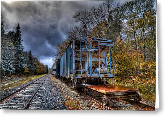 The Old Railroad Cars In Thendara Greeting Card