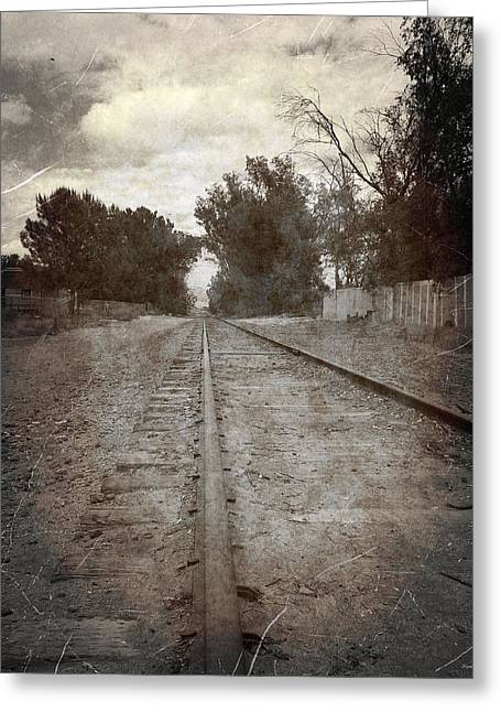 The Old Railroad Tracks Greeting Card by Glenn McCarthy Art and Photography