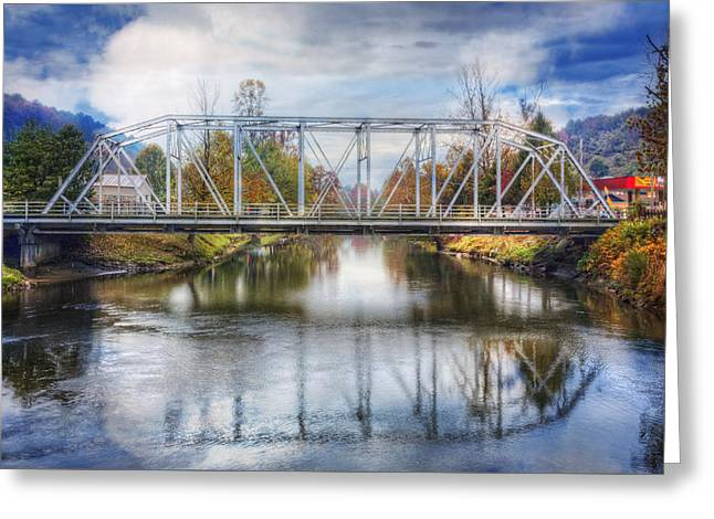 The Old Railroad Trestle Greeting Card by Debra and Dave Vanderlaan