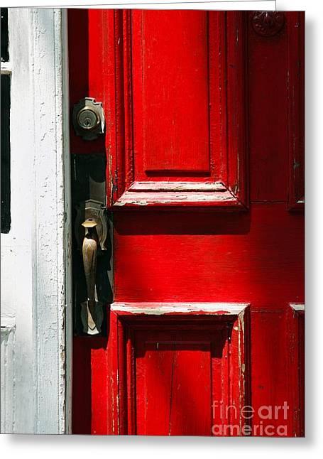 The Old Red Door Greeting Card by Hideaki Sakurai