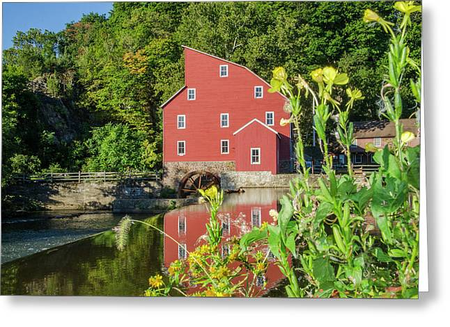The Old Red Mill - Clinton New Jersey Greeting Card