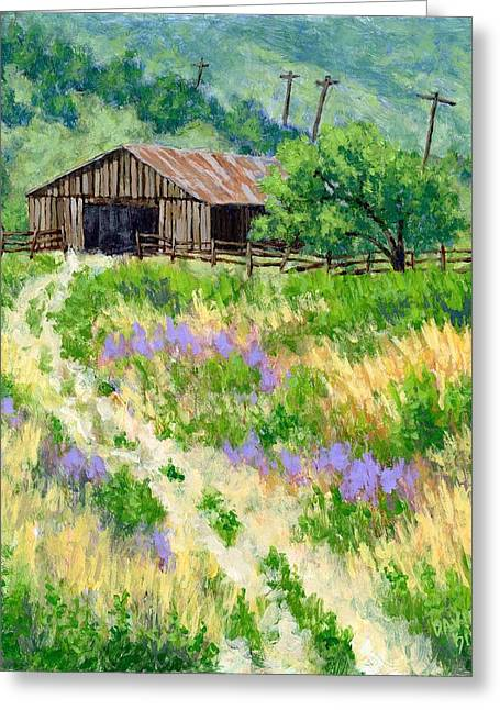 The Old Road To The Old Shed Greeting Card