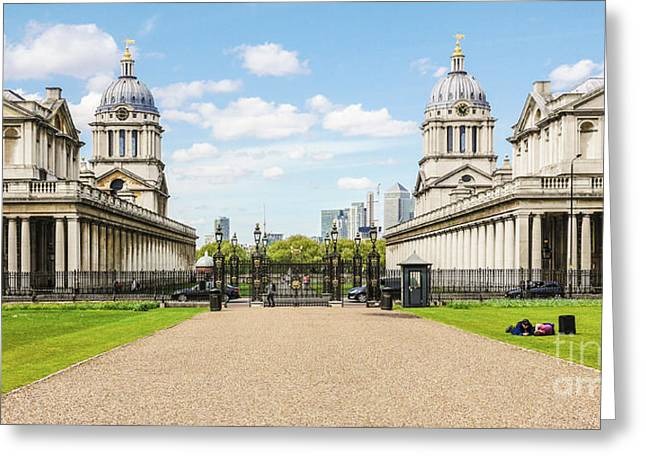 The Old Royal Naval College Greenwich England Greeting Card by Lexa Harpell