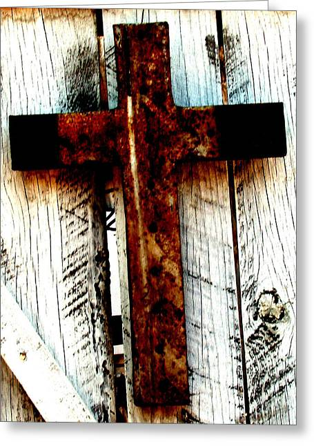 The Old Rusted Cross Greeting Card
