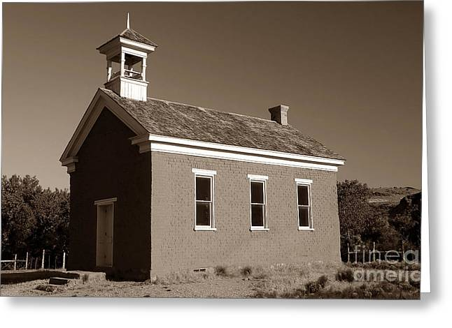 The Old Schoolhouse Greeting Card by David Lee Thompson