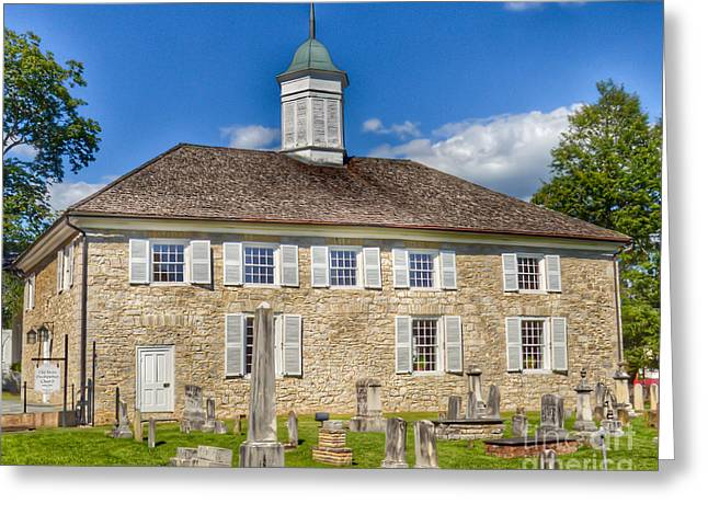 The Old Stone Church Lewisburg West Virginia Greeting Card by Kerri Farley