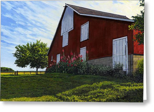 The Old Stucco Barn Greeting Card