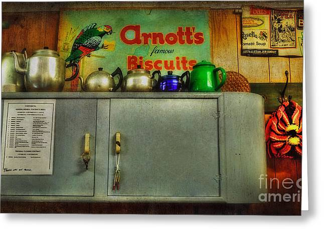 The Old Tea Shop By Kaye Menner Greeting Card