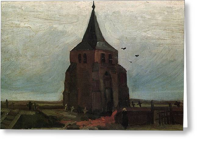 The Old Tower, 1884 Greeting Card by Vincent Van Gogh