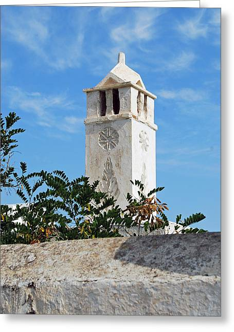 The Old Tower Greeting Card by Armand Hebert