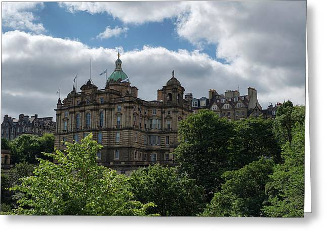 Greeting Card featuring the photograph The Old Town In Edinburgh by Jeremy Lavender Photography