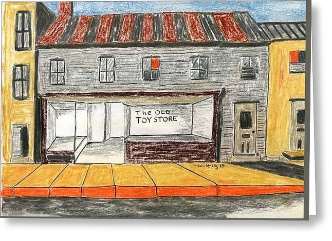 The Old Toy Store Greeting Card by Robert Wittig