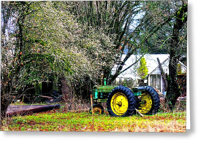 The Old Tractor Greeting Card by Clayton Bruster