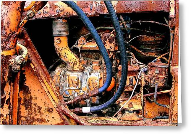 The Old Tractor  Greeting Card by Linda Carroll