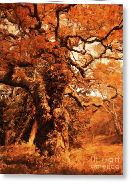 The Old Tree By Sarah Kirk Greeting Card