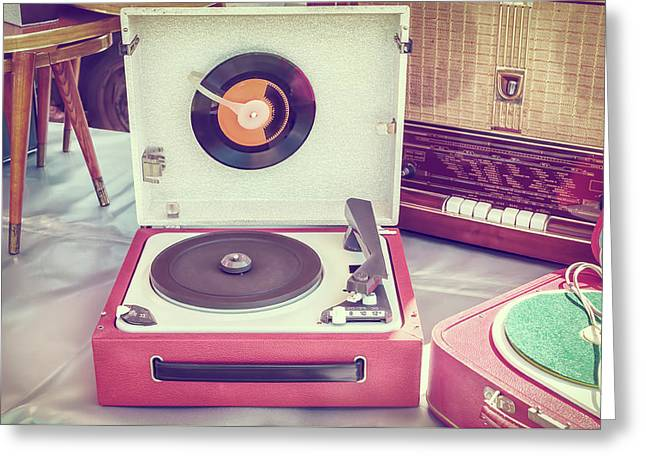 The Old Turntable Greeting Card by Martin Bergsma