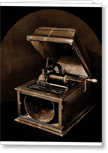 The Old Victrola Greeting Card by Mark Fuller