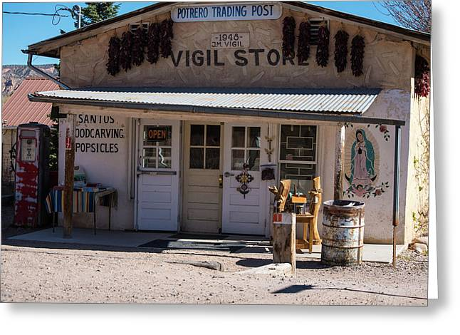 Old Vigil Store In Chimayo Greeting Card