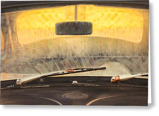 The Old Vw Beetle Greeting Card by Martin Bergsma