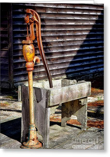 The Old Water Pump Greeting Card