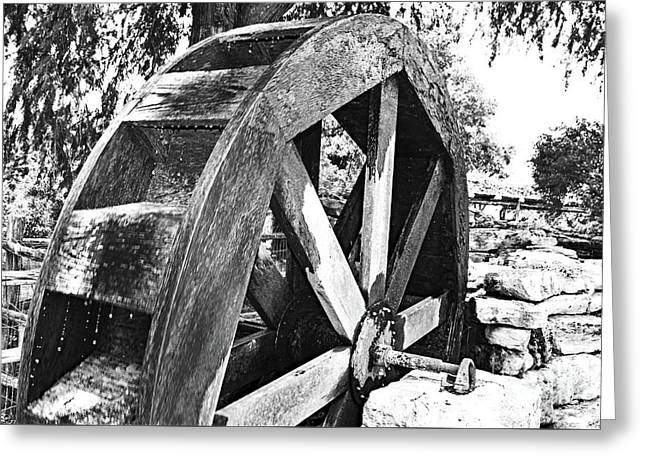 The Old Waterwheel Greeting Card