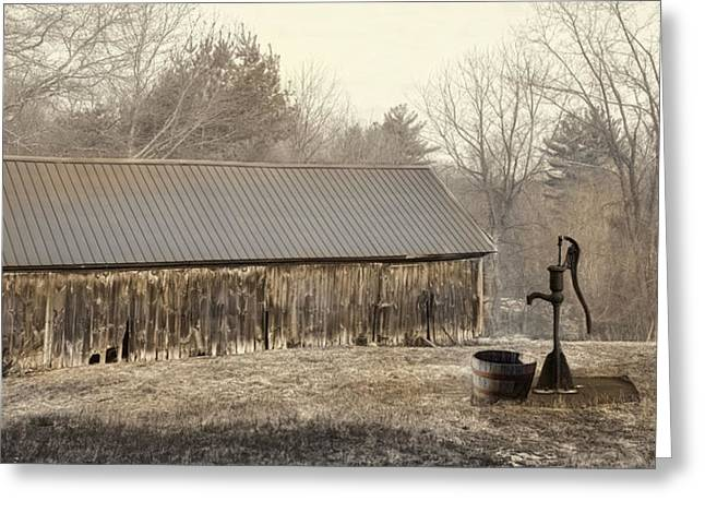 Greeting Card featuring the photograph The Old Well Pump by Robin-Lee Vieira