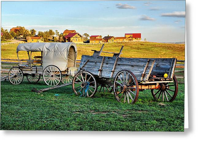 The Old West Greeting Card by Barbara Manis