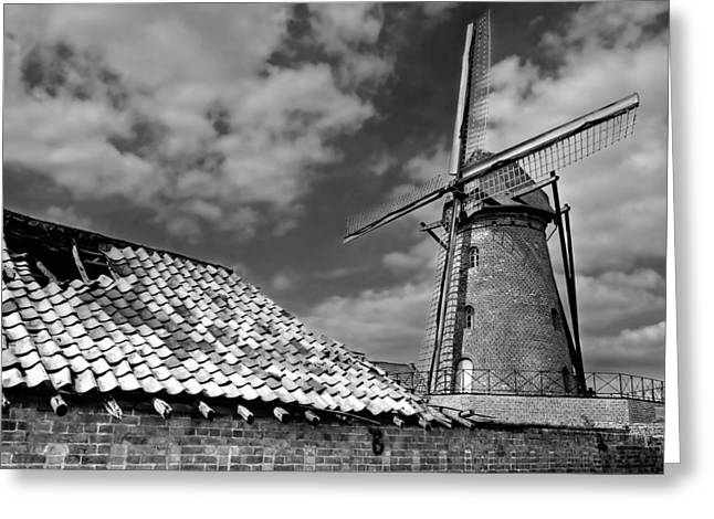 The Old Windmill Greeting Card by Jeremy Lavender Photography