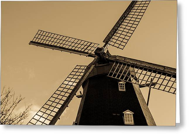 The Old Windmill Greeting Card by Tommytechno Sweden