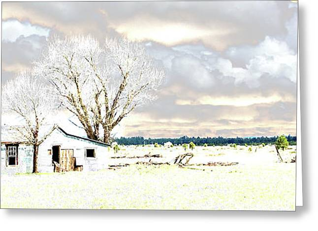 The Old Winter Homestead Greeting Card