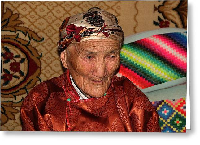 The Old Woman Of The Gobi Greeting Card