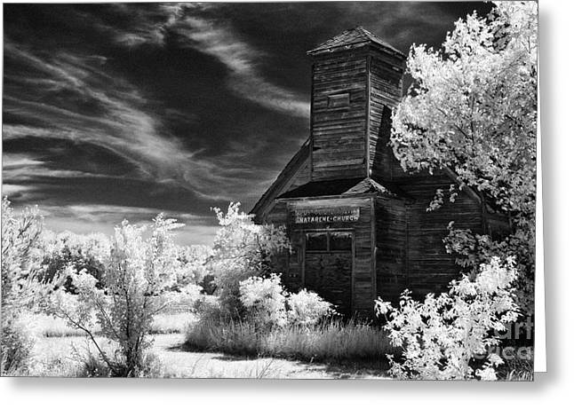 The Old Wood Church  Greeting Card by Jeff Holbrook
