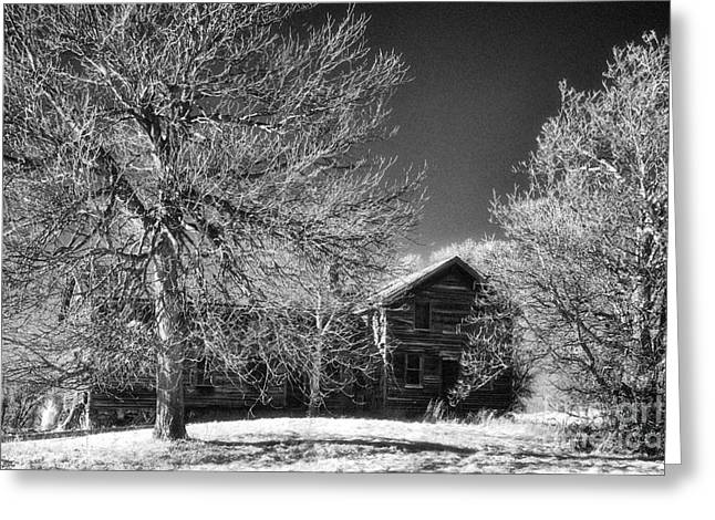 The Old Wood House Greeting Card by Jeff Holbrook