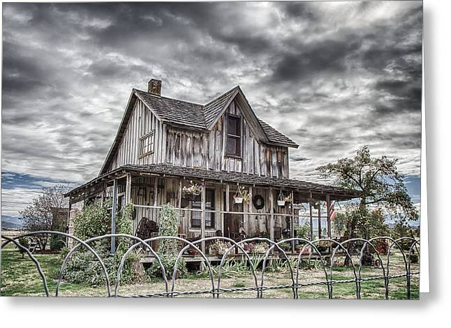 The Old Wood House Rogue Valley Oregon Greeting Card