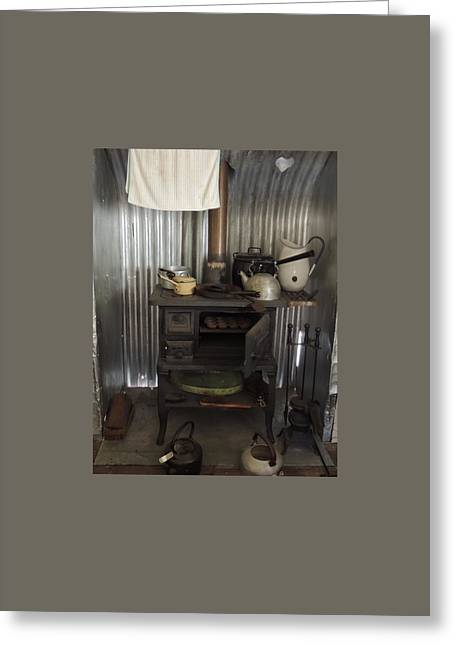 The Old Wood Stove. Greeting Card