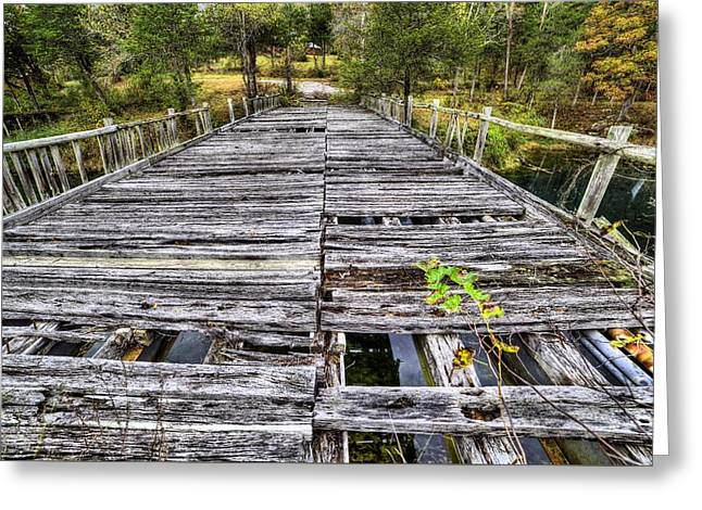 The Old Wooden Bridge Greeting Card by JC Findley