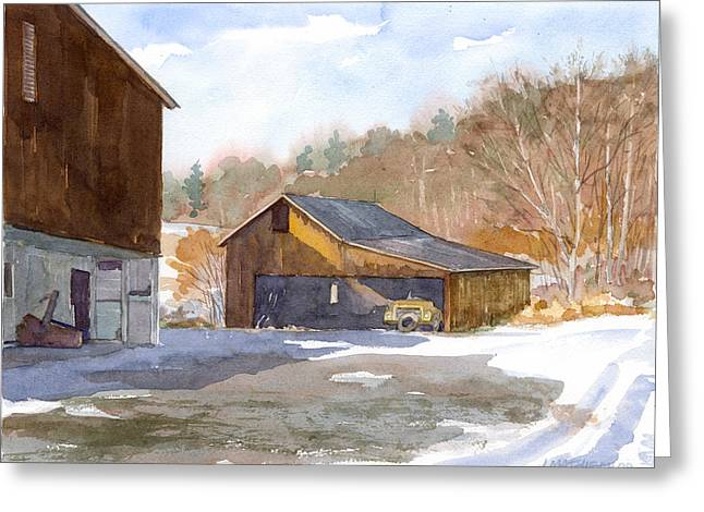 The Old Yellow Truck Greeting Card by Jeff Mathison