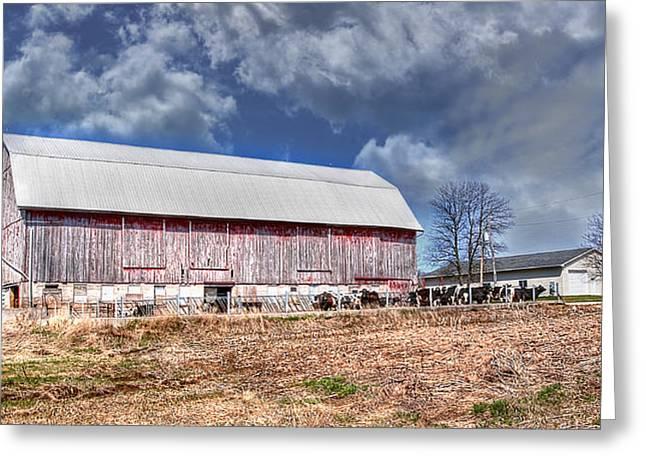 The Olde Farmstead Greeting Card by Deborah Klubertanz