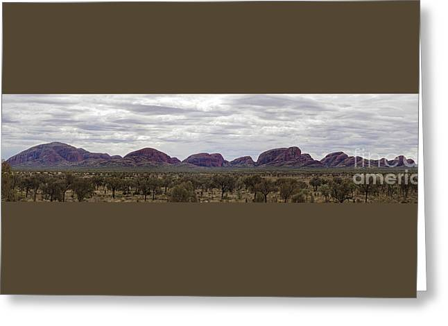 The Olgas Greeting Card by Linda Lees