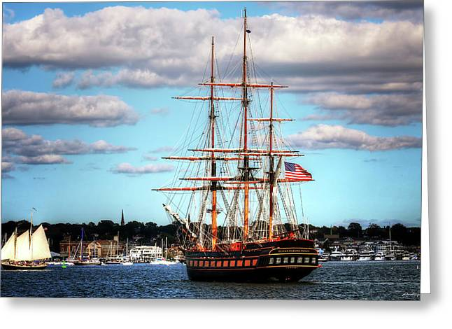 Greeting Card featuring the photograph Tall Ship The Oliver Hazard Perry by Tom Prendergast