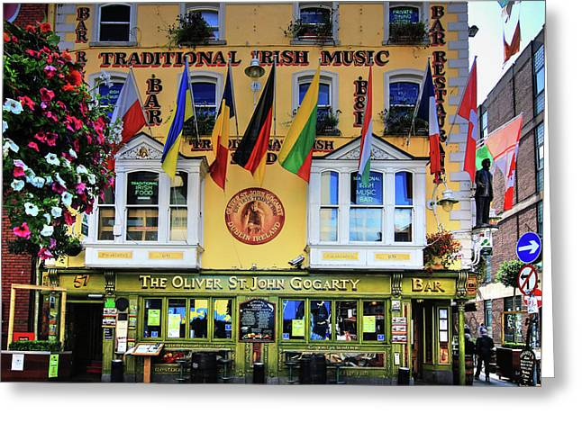The Oliver St John Goarty Bar Dublin Greeting Card