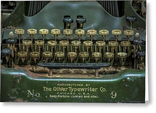 The Oliver Typewriter  Greeting Card by Rosette Doyle