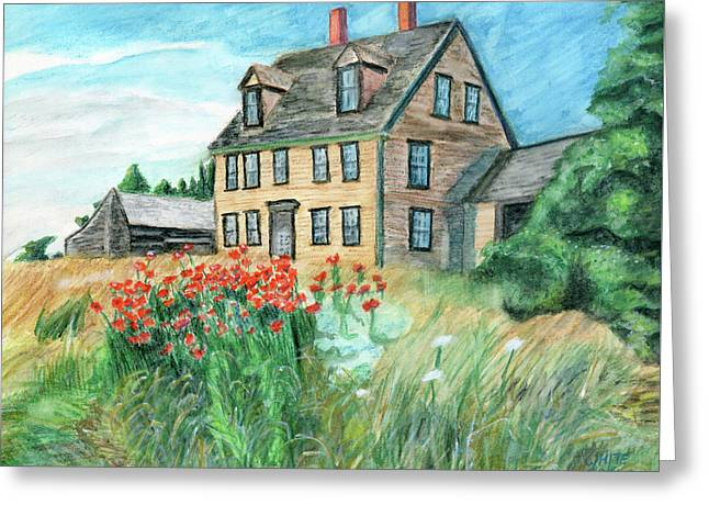 The Olson House With Poppies Greeting Card