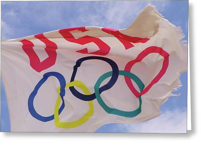 The Olympic Flag Greeting Card