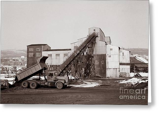 The Olyphant Pennsylvania Coal Breaker 1971 Greeting Card