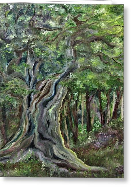 The Om Tree Greeting Card