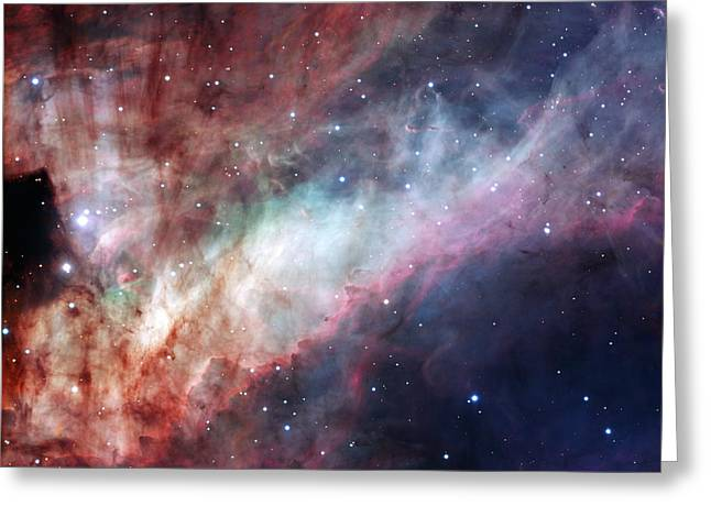 Greeting Card featuring the photograph The Omega Nebula by Eso