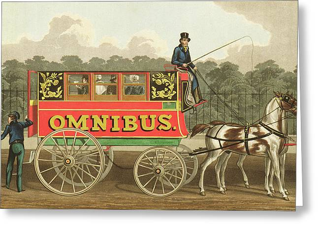 The Omnibus Greeting Card by Robert Havell